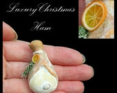 Luxury Christmas Ham - Artisan fully Handmade Miniature in 12th scale. From After Dark miniatures.