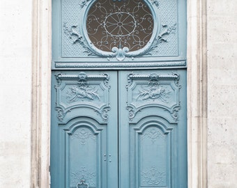 Paris Photography - Le Porte Bleu, Paris Door Fine Art Photograph, French Travel Home Decor, Architecture, Large Wall Art