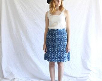 vintage indigo ikat skirt