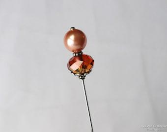 Rose Gold, Astral Pink, Swarovski Stick Pin, Swarovski Princess Cut, Hat Pin, Scarf Pin, Hijab Pin, H0305