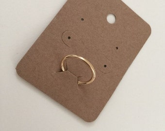100 pcs of Blank Necklace, Ring and Earrings Card in Brown Kraft Paper for Accessories Jewelry