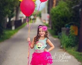 Sale, Birthday Shirt, Girls Emoji Shirt, Glitter Shirt, Birthday Number Shirt, Birthday Girl, Tween Shirt, Emoji Face, Emoji Birthday