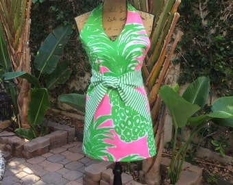 Lilly Pulitzer Pink Pout Flamenco Apron