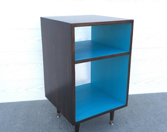 FREE SHIPPING!! The Side Table Record Cabinet MCM Mid Century Modern Side Table Furniture Vinyl Storage Bed Side Table End Table