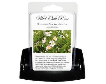 WILD OAK & ROSE Soy Melts - Wax Tarts - Soy Tarts - Candle Tarts - Melting Tart - Scented Tart - Tart Melt - Wax Melt - Clamshell - Dye Free
