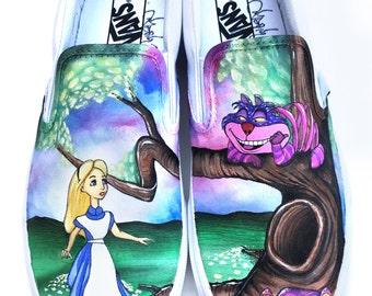 Custom Vans- Alice in Wonderland