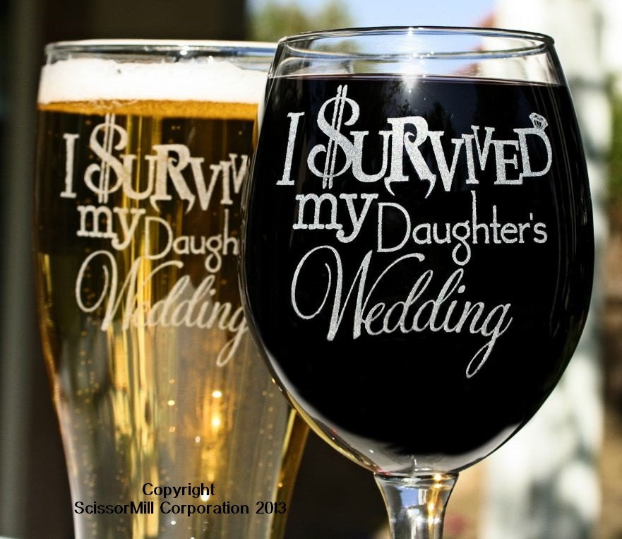 Wedding Present For My Mom : Parents Wedding Gift I Survived My Daughters Wedding Mom Dad