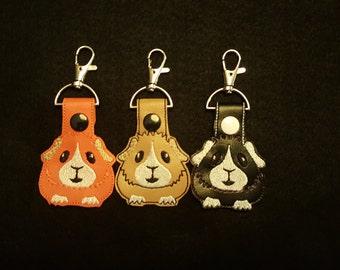 Guinea Pig Key Chain (snap tab, key fob)