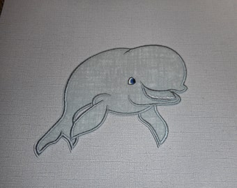 Free Shipping Ready to Ship Manatee Fabric iron on applique