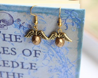 Golden Snitch Earrings, Harry Potter Jewellery