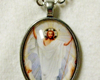 Ascension of Christ pendant and chain - AP20-004
