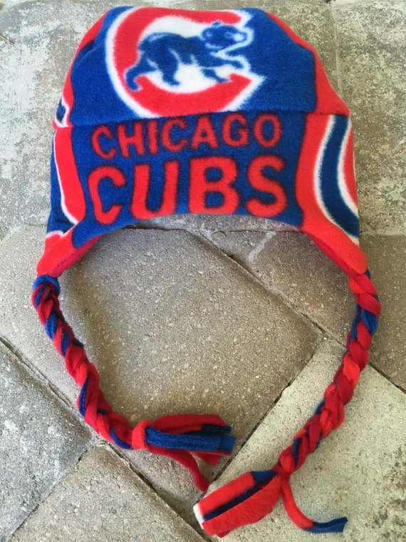 Chicago Cubs Baseball Fleece Hat with Ear Flap - Perfect for Baby, Kids, Teens and Adults
