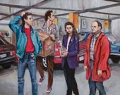 A Painting About Nothing - Seinfeld Painting - Jerry Seinfeld - Parking Garage Episode - 1990s Throwback Fine Art Print -5x7 8x10 11x14