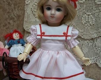 "PDF Pattern for 9"" Loulotte Wardrobe #2  Two Dresses, Pinafore,  Slip, Panties  Bleuette Friend"