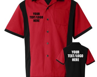 Bowling shirt etsy for Custom polo shirts canada