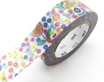 Colorful flowers washi tape floral washi tape Japanese