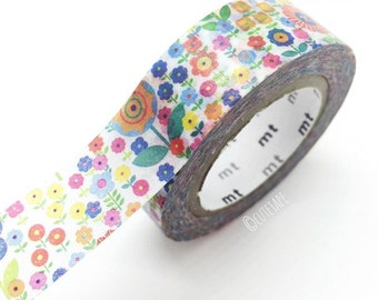 flower washi tape floral washi tape Japanese Flower Tape Colorful washi tape Decorative Tape