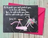 Floral Bicycle Friendship Greeting Card Chalkboard Encouragement Sympathy Song 60 Bible Scripture JW Printable Gifts Ministry Org Service