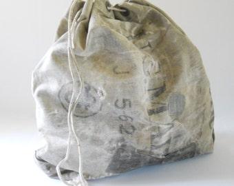Vintage US Canvas Mail Bag • Drawstring USPS Canvas Mail Bag