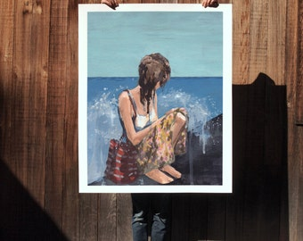 The Point . extra large artwork . giclee print