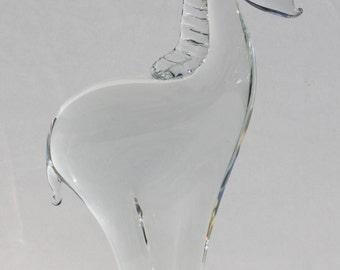 Vintage Scandinavian Mid Century Modern Art Glass Mod Giraffe Statue Paper Weight Figure