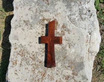 Rustic handmade wood cross made from Texas honey mesquite burl, Christian decor, wall decor, OOAK, live edge