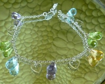 750 18k Le Gi Bracelet semi precious gemstones Designer