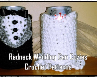 Redneck Wedding Can Cozies Crochet Pattern PDF - INSTANT DOWNLOAD