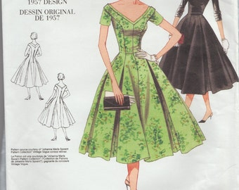 Vogue 2903 / Reproduction Sewing Pattern / Reissue / Dress / Sizes 12 14 16