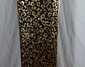 Gold Gorgeous Cheetah Print Belly Dance Panel Skirt