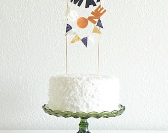Custom Name Bunting Cake Topper Decoration / Cake bunting / Vintage Circus First Birthday / Birthday Cake Banner / Boy Birthday Party