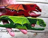 Dragon Weaving Shuttle - Custom Order - Card Tablet Inkle Band Backstrap Rigid Heddle Loom