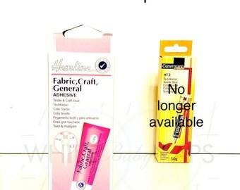 NEW 1 Hemline Fabric, Craft, General Adhesive 30g: Gutermann Creativ Glue 30g Pretty in Pink