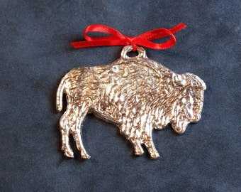 Pewter Bison Ornament