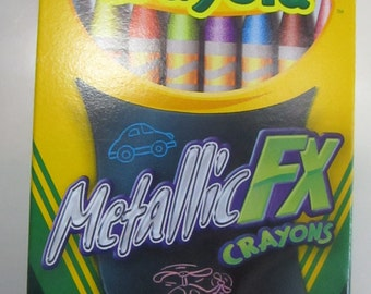 Crayola Metallic FX crayons 16 count, coloring medium