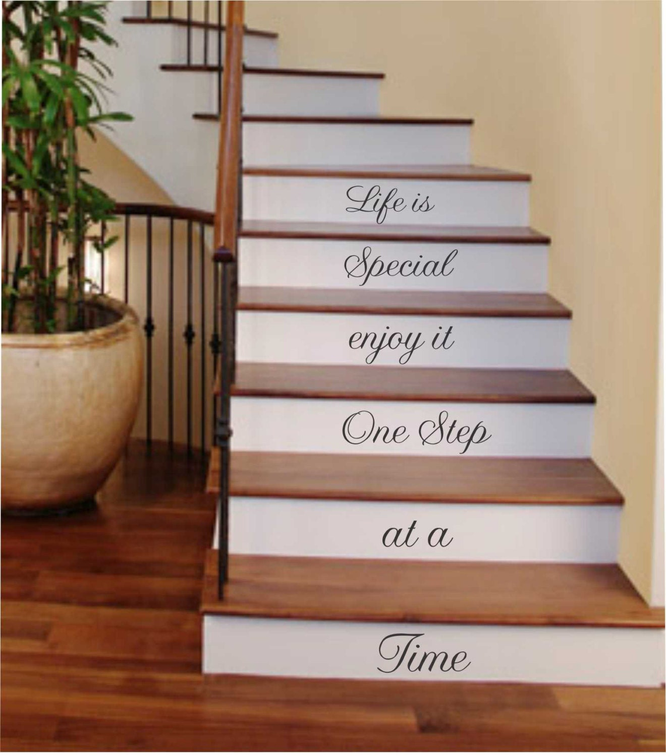 Life Is Special One Step Stairs Decal Vinyl Wall Lettering