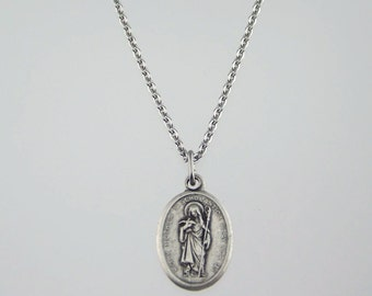 Holy Mother Scholastica Medal Necklace