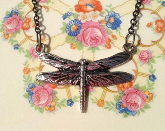 Dragonfly Pendant Necklace - Nature Lover Gift - Eleven Jewelry - Simple - Summer - Fairy - Handmade Gifts- Unique Style - Feminine - Elvish