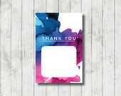 WATERCOLOUR 2.0 DESIGN THANKYOU Card, Instant Download Thank you Card, Birthday, Bridal Shower, Kitchen Tea, Wedding, 6x4 Hens Thank you