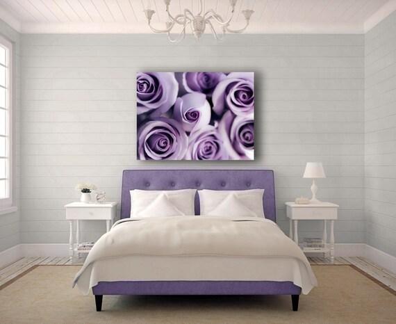 Large Canvas Art, Purple Canvas Art, Rose, Mauve, 16x20 Canvas, Purple Flowers, Purple Roses, Modern, Bedroom Wall Art