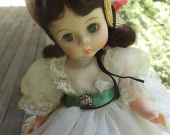 Vintage SCARLETT O'Hara Madame Alexander 7 inch doll