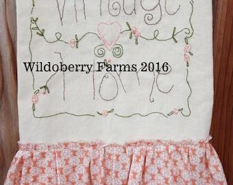 Vintage Home Dish Towel Stitchery Pattern Kit