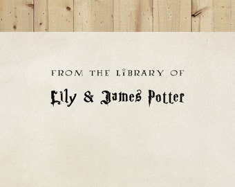 Library Stamp, Book Stamp, Wizard Stamp - Style #16, Wood Mounted or Self-Inking, Gifts for Book Lovers, From the Library of, Magic Stamp