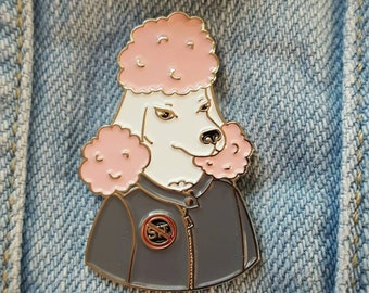 Pissed Poodle enamel pin - Bad Dog Biter Gang!