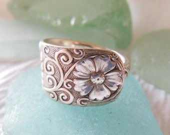 Antique Spoon Ring    Size 6.5