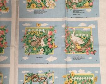 Peek A Boo Cloth Book Fabric Panel