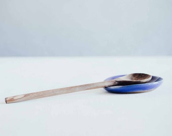 Spoon Rest - Blue Ceramic Spoon Rest - Ceramics - Pottery