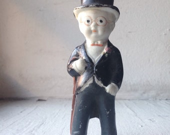 Adorable Vintage Bisque Groom with Top Hat- Made in Japan