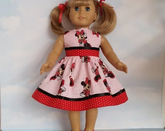 18 inch doll clothes - #308 Minnie Dress made to fit the American Girl Doll - FREE SHIPPING