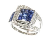 Van Cleef & Arpels Ring Diamond and Sapphire Mystery Set c.1940